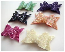 CHUNKY Glitter Fabric Bow - SMALL Suitable for: Accessories/Shoes/Bags/Craft