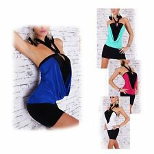 2014 Fashion Womens Backless Halter Sleeveless Dress Clubwear Bodycon + G-string