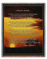 SOUTHWEST COWBOY HORSE SILHOUETTE PRAYER TAPESTRY THROW AFGHAN BLANKET 53x70