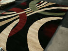 New City Brand New Contemporary Brown and Beige Modern Wavy Circles Area Rugs