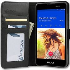 for BLU Cell Phone - PREMIUM PU Leather Flip Case Folio Wallet Smartphone Cover