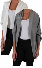 NEW WOMEN'S ABBOT & MAIN HOODED OPEN FRONT COCOON CARDIGAN! VARIETY COLOR & SIZE
