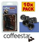 CoffeeDuck Refillable Capsules for Nespresso Machines Post Oct 2010 Bulk Pack 10