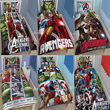 Official Marvel Avengers Single / Double Duvet Cover Bed Set Gift Age of Ultron