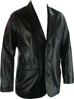UNICORN Mens 100% Real Leather Classic Suit Jacket 'All Sizes' #G4