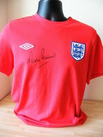 MARTIN PETERS HAND SIGNED AUTOGRAPH BNWT ENGLAND RETRO SHIRT 66 WORLD CUP & COA