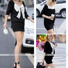 Pregnant Fashion Women Maternity Short Sleeve Casual Cotton Summer Clothes Dress