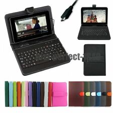 "7"" 8"" 9"" 9.7"" 10"" 10.1""  Micro USB Keyboard PU Leather Android Tablet Case Cover"