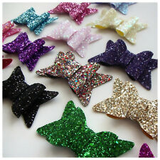 CHUNKY Glitter Fabric Bow - LARGE Suitable for: Accessories/Shoes/Bags/Craft
