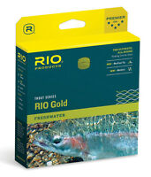 RIO GOLD NEW WF-4-F #4 WEIGHT FORWARD FLOATING FLY LINE MOSS & GOLD MAXCAST
