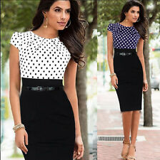 Ladies Elegant Vintage Office Wear To Work Party Bodycon Business Pencil Dresses