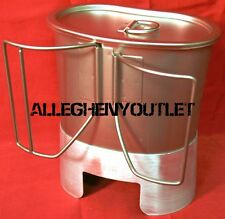 Stainless Steel BUTTERFLY CANTEEN CUP & MRE STOVE / STAND & LID SETUP NIB