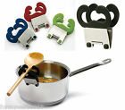 Norpro Pot Pan Clip Spoon Spatula Rest Holder Kitchen Utensil, Assorted Colors
