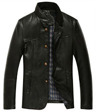 Hot new Men's fashion business casual leather jacket short trench coat jackets