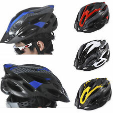 Adult Safety Cycling Carbon Helmet Road Mountain Bicycle Bike Visor Head Protect