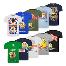 Official Minions Crew Neck Mens T-Shirts - Stuart, Kevin & Bob