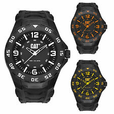 CAT Motion Mens Black Rubber Strap Watch