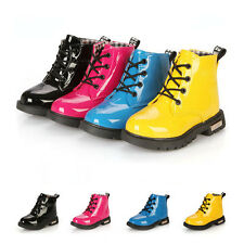 New Baby Girls Boys Childrens Kids Winter Casual Flat Pumps Boots Shoe Size 5-13