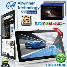 8GB MID Tablet PC A33 QUAD CORE 7 Inch Android 4.4 KitKat AllWiner Multi Color!
