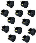 GS20 3-Prong American to European (2 round) Wall Outlet Plug Adapter, 12-pack