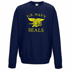 U.S. NAVY SEALS SWEATSHIRT - RETRO US AIR FORCE MARINES FANCY DRESS JUMPER