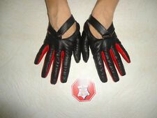 WOMEN'S BLACK LEATHER DRIVING GLOVES SIZE 7, 7.5, 8