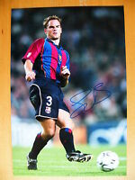 FRANK de BOER HAND SIGNED AUTOGRAPH 12X8 PHOTO HOLLAND BARCELONA & PROOF & COA