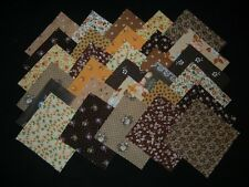 "30~4""x4"" vintage brown fabric squares~quilt blocks~kits/quilting"