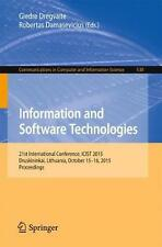 NEW Information and Software Technologies by Paperback Book (English) Free Shipp