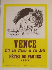 MARC CHAGALL - VENCE/1953  - AFFICHE - EXHIBITION  POSTER