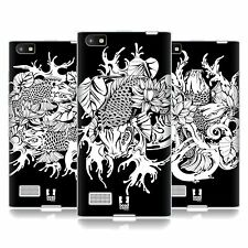 HEAD CASE DESIGNS BLACK AND WHITE KOI FISH TATTOO GEL CASE FOR BLACKBERRY PHONES