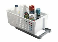 RUBBERMAID 5577-RD WHITE SLIDE N' STACK BASKET WITH TRACK WHITE NEW