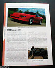 1993 CHEVROLET CAMARO Z28 PHOTO FACT SPEC SHEET '93