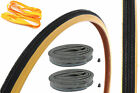 SET 27 x 1 1/4 TYRES,TUBES & RIM TAPES IDEAL FOR 60's 70's 80's RACERS+FIXIES