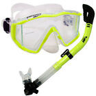 Scuba Diving Snorkeling Mask Dry Snorkel Gear Combo Set