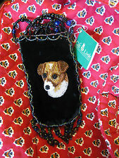 NWT JACK RUSSELL TERRIER BEADED DOG Mini BAG purse mothers day gift