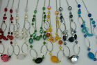 Wholesale 4 Silver 2 Tier Drop Beaded Necklaces Assorted Colours