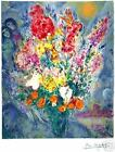 MARC CHAGALL BOUQUET SIGNED LITHOGRAPH POSTER PRINT Ltd Ed w/COA