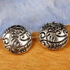 12Pcs Tibetan Tibet Silver 12mm Coin Round Shape Spacer Charm Beads Findings