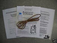 LEATHER TREADLE  BELT FOR THE SINGER MODEL 66 (REDEYE) SEWING MACHINE