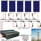 500Watts Complete Kits: 5*100W Poly Solar Panel W/ 500W Grid Tie Inverter Home