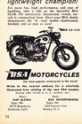 1961 BSA STAR 250 MOTORCYCLE ~ ORIGINAL SMALLER PRINT AD