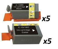 10 Compatible printer Ink Cartridges for Canon Pixma selphy Ds700 ip90 i70 80