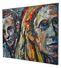 ORIGINAL OIL PAINTING LARGE IMPRESSIONIST ART CITY REALISM PORTRAITS ABSTRACT