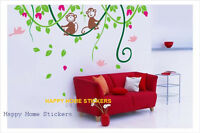 Cheeky Monkey Childrens Room/Home Wall Sticker Adhesive Reusable Art Decal