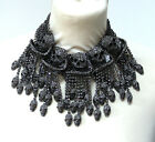 Butler and Wilson 5 Pewter Crystal Swirl Skull Tassell Necklace NEW LAST ONE!!!