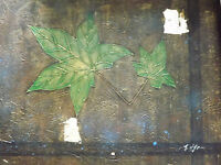minimal abstract green leaves large oil painting canvas contemporary irish art
