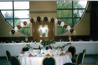 WEDDING - BALLOON TABLE ARCH KIT - BURGUNDY AND IVORY