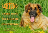 METALL-WARNSCHILD A4: LEONBERGER 7523