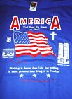 "AMERICA ""GOD SHED HIS GRACE ON THEE "" NOTHING DEARER THAN LIFE SHIRT (2XL)"